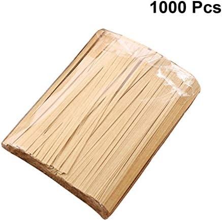 Bestonzon 1000 Stück Kraftpapier Twist Binder Lebensmittel Verpackung Versiegelung Beutel Binder für Party Süßigkeiten Kuchen Geschenke – 12 cm