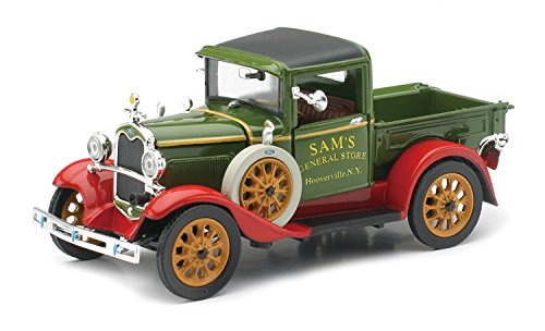 (NewRay - 1931 Ford Model A Diecast Classic Car Collection Pickup Truck - Green - 1:32 Scale)