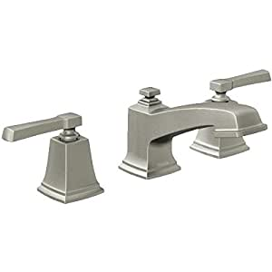 Moen 84820srn double handle widespread bathroom faucet from the boardwalk collection spot Amazon bathroom faucets moen