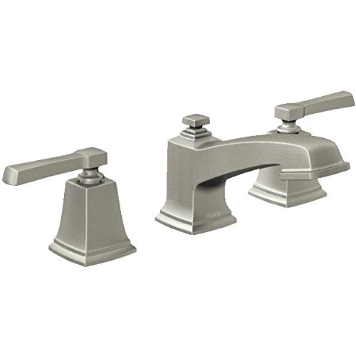 Moen 84820SRN Double Handle Widespread Bathroom Faucet From The Boardwalk  Collection, Spot Resist Brushed Nickel   Touch On Bathroom Sink Faucets    Amazon. ...