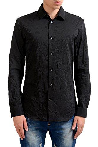 Maison Martin Margiela '14' Men's Black Long Sleeve Dress Shirt US 16 IT - Black Maison Martin Margiela