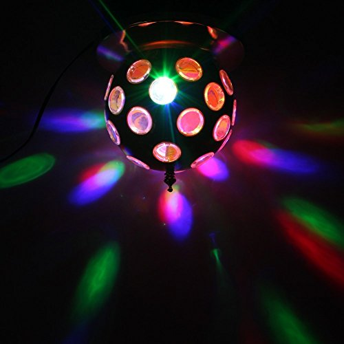 DLLL E27 Magic Ball Lamp Stage Lighting Effect induction ball led lighting led stage light for KTV christmas decoration with Remote contrller and USB-driver for family Party,KTV,DISCO,dance halls,night club,bar,shopping mall,wedding,karaoke,square