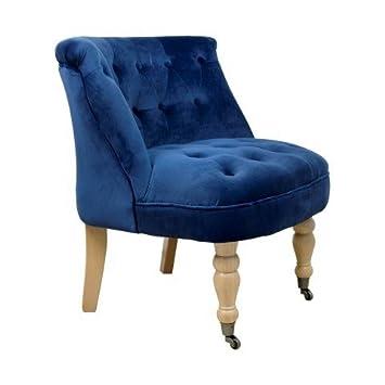 Sillón Decorativo Azul con Ruedas. Mueble Auxiliar. 70 x 63 ...