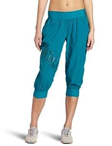Zumba Fitness LLC Women's Feelin It Cargo Capri, Peacock, XX-Large