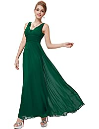 Ever Pretty Double V-Neck Ruched Waist Ladies Long...
