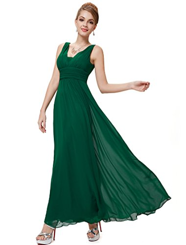 de 08110 Fonc Double Robe Pretty de Ever col Soiree Vert Style Empire V en wOPqd8dX