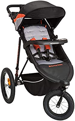 Schwinn Interval 2 In 1 Jogging Stroller With Locking Front Wheel Oriole