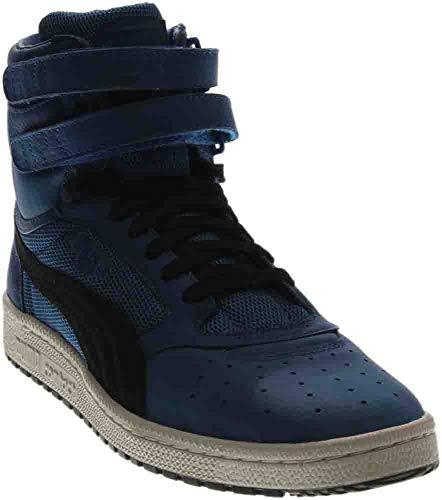 PUMA Men's Sky II Hi Color Blocked Lthr Sneaker, Lapis Blue Black, 10 M US -