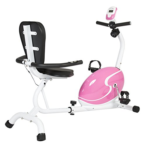 Best Choice Products Pink Magnetic Recumbent Exercise Bike Health Fitness Cycling Bicycle Workout Best Choice Products
