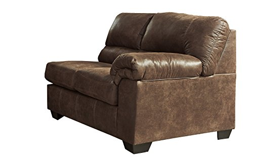 Ashley Furniture Signature Design - Bladen Contemporary Right Arm Facing Loveseat - Sectional Component ONLY - Coffee
