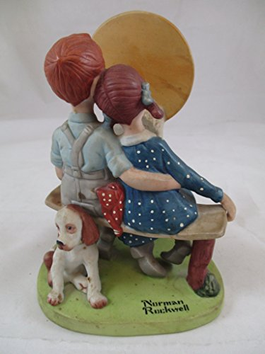 The Danbury Mint Norman Rockwell Young Love Porcelain Figurine (Figurine Porcelain Mint)