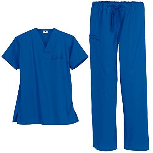 Strictly Scrubs Unisex Medical Uniform Set (Small, Royal)]()