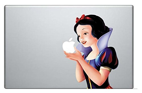 New Snow White Holding Apple Macbook Pro Vinyl Decal Sticker For 15 Inch