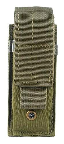 AccessoryHappy Premium Outdoor Hunting Tactical Holster Pouch Fully Compatible with MOLE System fits Single Pistol Magazine, Knife, Flashlight, Sheath, Airsoft Hunting Ammo and Much More (OD Green)