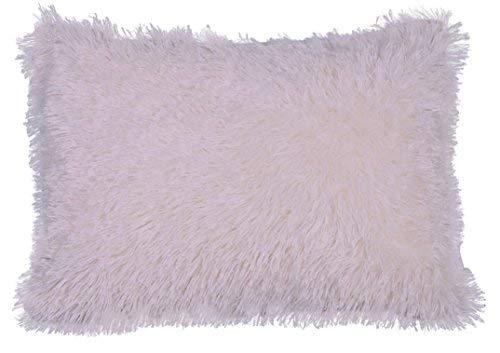 Urban Loft by Westex Shiny Shag Polyester Filled Decorative Throw Pillow Cushion, 14
