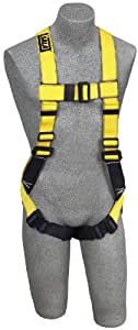 DBI/Sala Delta, 1104730 Construction Full Body Harness, Dorsal Web Loop, Coated Hardware, Universal Size, Navy/Yellow