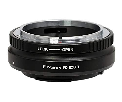 Fotasy FD Lens to Canon EOS R Adapter, Adapter for EOS R EOS RP, Compatible with Canon FD Lens & Canon EOS R Mount Full Frame Mirrorless Camera EOS R/EOS RP (Best Fd To Eos Adapter)