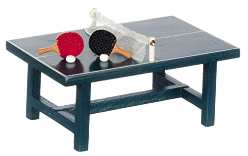 Miniatures World Dollhouse Miniature Ping Pong Table for sale  Delivered anywhere in USA