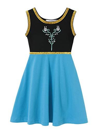 Cotton Baby Girl Clothes Summer Little Princess Toddler Kids Party Tutu Dresses (C11 Size 5) -