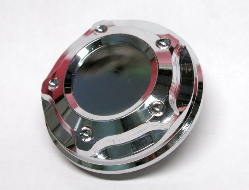 Oil Filler Cap CHROME Billet Aluminum - Twist & Lock Style For Many Mitsubishi (Mitsubishi 3000gt Engine)