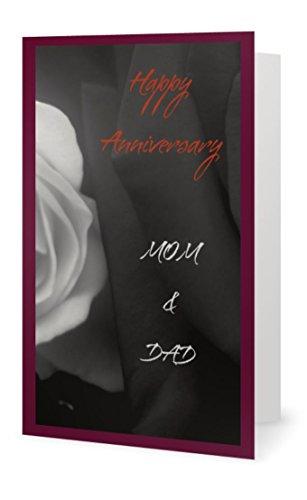 Anniversary Beautiful Love Mom Dad Parents Flower (Q52) Greeting Card (Birchcraft Card)