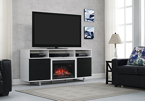 ClassicFlame 26MM9665-NW145 Enterprise Lite Contemporary TV Stand for TVs up to 80