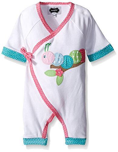 Pie Onesie (Mud Pie Baby Caterpillar Kimono One Piece, White, 3-6)