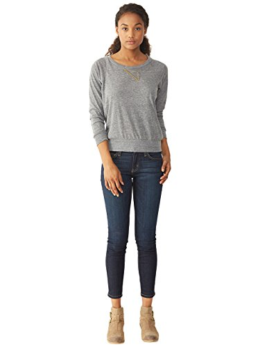 Alternative Women's Slouchy Pullover, Grey, Medium
