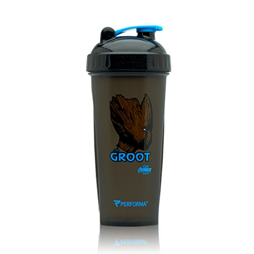 Performa Perfect Shaker - Avengers, Infinity Wars Bottle With Actionrod Mixing Technology, Dishwasher Safe and Shatter Proof (GROOT) (Wars Cups)