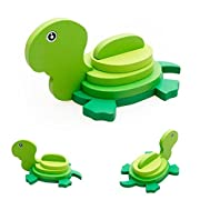 DZT1968 Baby Kids 18 Animales Montessori Mini 3D Puzzle Educational Funny Toy Wooden Colorful Jigsaw Gift (K)