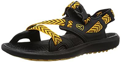 KEEN Men's Maupin Sandal, Black/Golden Yellow, 7 M US