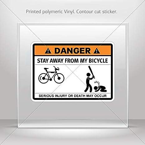 Adhesivo Funny Stay Away de mi bicicleta Tablet portátiles ...