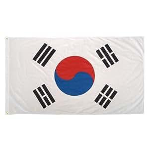 YEESHI South Korea Printed Polyester Flag 5 size can choose