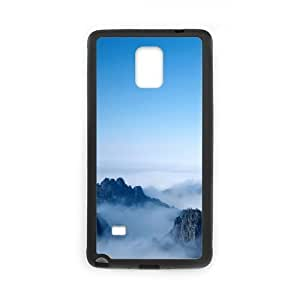 Diy Mountain Peak Phone Case for samsung galaxy note 4 Black Shell Phone JFLIFE(TM) [Pattern-1]