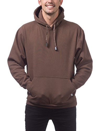 Pro Club Men's Heavyweight Pullover Hoodie (13oz), Large, Brown ()