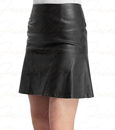 Amazon.com : Leather Pencil Skirt for women girls teens genuine ...