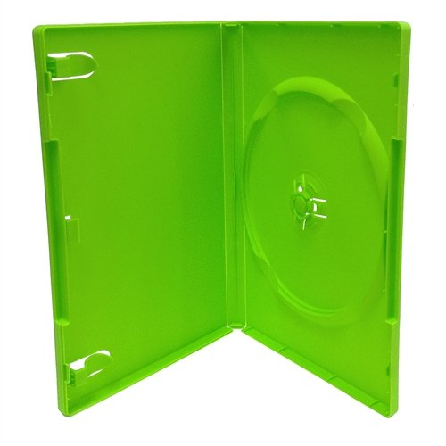 mediaxpo 10 STANDARD Solid Green Color Single DVD (Green Single Dvd Cases)