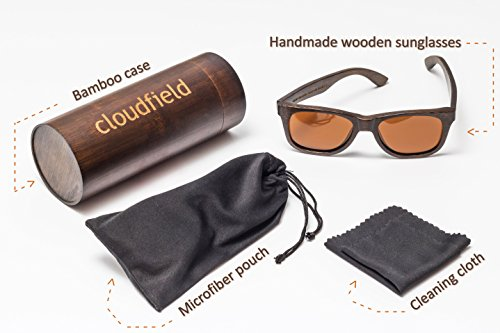 Wood Sunglasses Polarized for Men and Women - Bamboo Wooden Sunglasses Sunnies - Fishing Driving Golf woodies westwood treehut texas paul frank kreed pirana hawkers blenders sunski aunglasses kz 5 HANDMADE WOOD SUNGLASSES