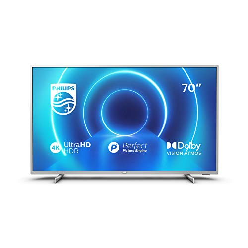 Philips 7500 series 70PUS7555/12 TV 177.8 cm (70″) 4K Ultra HD Smart TV Wi-Fi Silver 7500 series 70PUS7555/12, 177.8 cm (70″), 3840 x 2160 pixels, LED, Smart TV, Wi-Fi, Silver