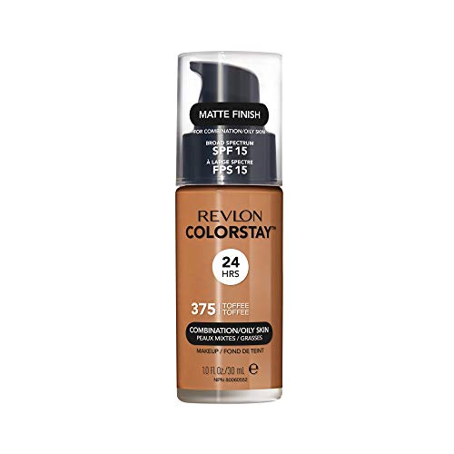 Revlon ColorStay Liquid Foundation For Combination/oily Skin, SPF 15 Toffee, 1 Fl Oz