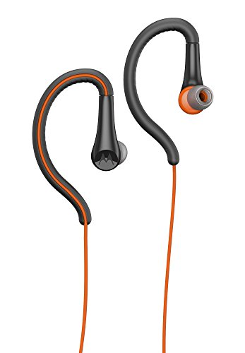Motorola Earbuds, Sport Water Resistant In-Ear Headphones - Flame (SH008 FL)