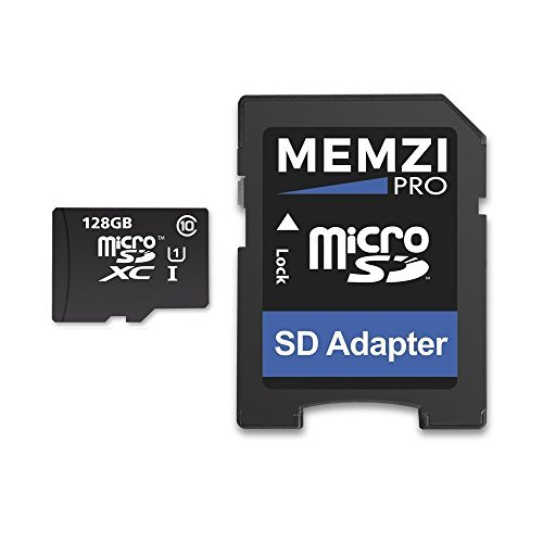 MEMZI PRO 128GB Class 10 80MB/s Micro SDXC Memory Card with SD Adapter for Samsung Galaxy S8, S8+, S8 Plus, S7, S7 Edge, S7 Active Cell Phones by MEMZI