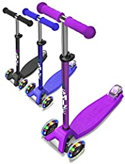 Excellent Rigid Construction - SMIZZE Scooter and accessories for best Performance and More HAPPINESS SMIZZE SCOOTERS has Wide a Base, Large Enough to Fit Both of the Child's Feet HIGH-QUALITY PU Wheels - The Construction of Our Scooter for g...