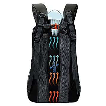 TFO 40L Hiking Backpack with 4 Adjustable Compression Straps Daypack Water Resistant S-Shape Shoulder Strap