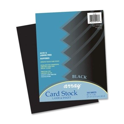 Pacon Array Card Stock, 65 lbs, Letter, Black, 100 Sheets/Pack