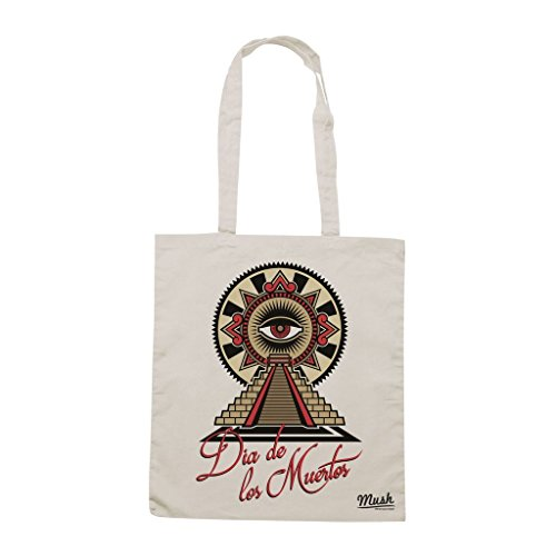 Borsa Dia De Los Muertos Eye Maya - Panna - Famosi by Mush Dress Your Style