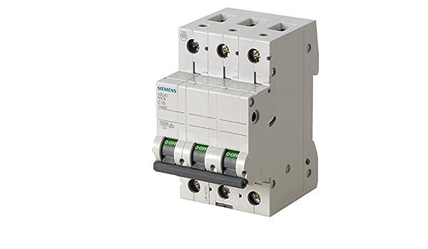 Siemens 5sl4 - Interruptor automático 10ka curva-b 3 polos 50a ...