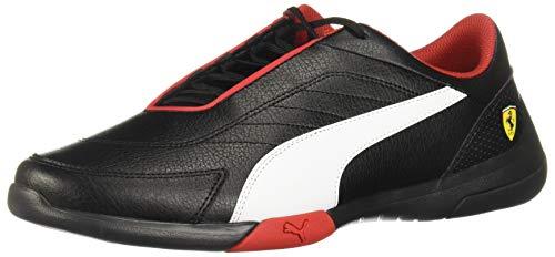 PUMA Men's Ferrari Kart Cat Sneaker, Black Whit, 12 M US