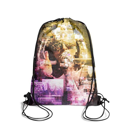 CAPXIEeY Drawing Backpack Dancing Bag Rock Band Poster Gym Sports Travel Sackpack for Men Women