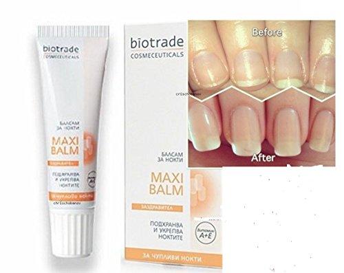 BIOTRADE Nail Maxi Balm -Brittle Nails Moisturizer Repair vitamin A+E